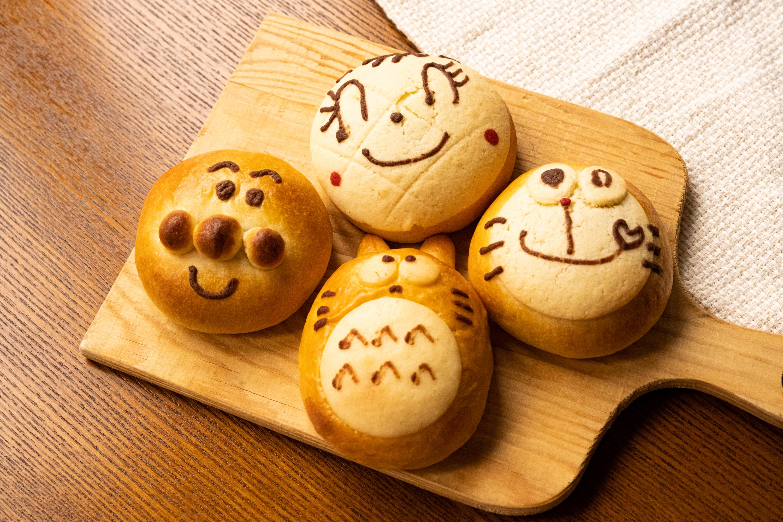 キャラクターパン(こしあん)
